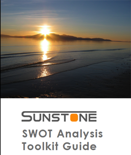 Image of cover from sunstone saas swot analysis toolkit guide