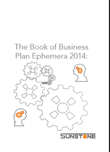 Image of front cover of the book of businessplan ephemera 2014 from sunstone communication