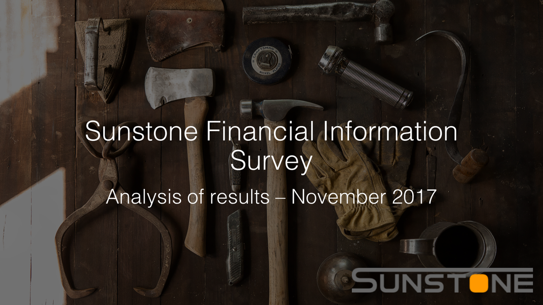 Cover of sunstone financial information survey november 2017